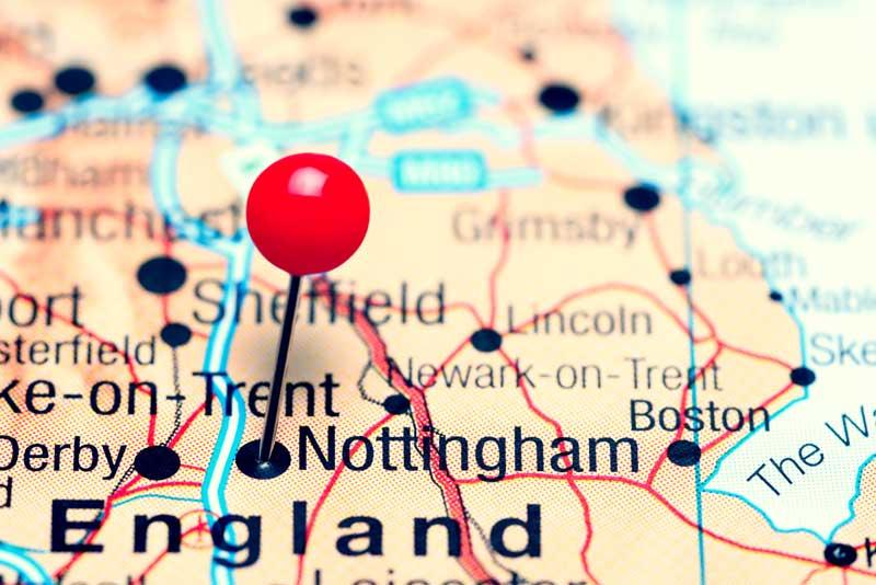 Nottingham Map - Geneology
